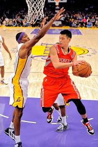 Dwight Howard and Jeremy Lin
