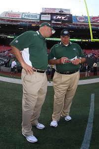 Mike Pettine and Rex Ryan
