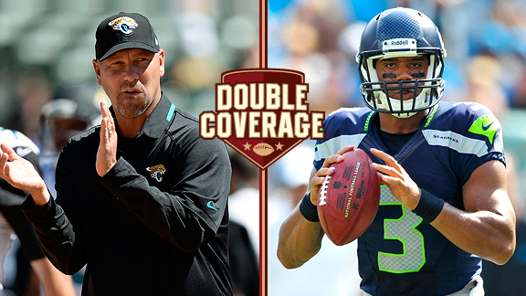 Gus Bradley and Russell Wilson
