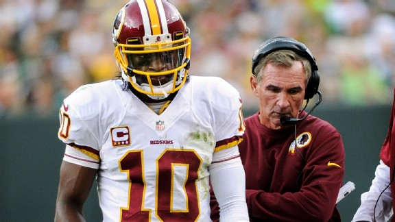 Robert Griffin III and Mike Shanahan
