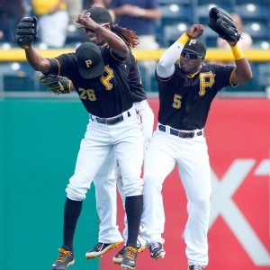 Andrew McCutchen, Felix Pie and Josh Harrison