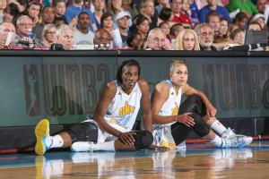 Elena Delle Donne and Sylvia Fowles