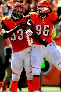 Cincinnati's Michael Johnson and Carlos Dunlap