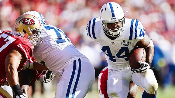 Colts send a message against 49ers