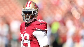 Smith out of treatment, visits with 49ers