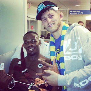 Jon Jones and Alexander Gustafsson