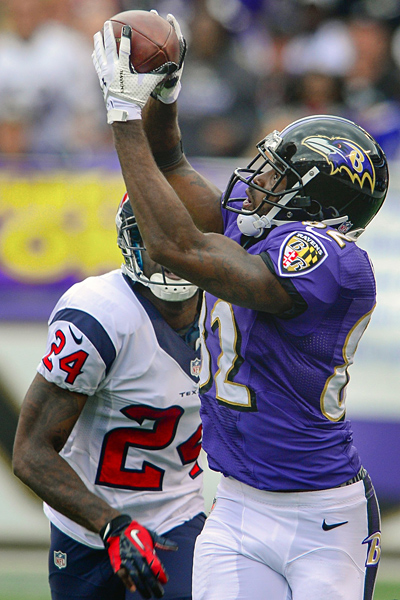 Doug Kapustin/MCT via Getty Images Torrey Smith is easily having his