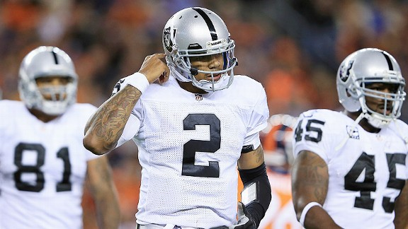 In Pryor concussion, uncertainty for Raiders