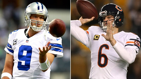Tony Romo and Jay Cutler