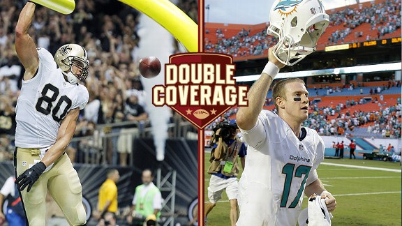 Jimmy Graham and Ryan Tannehill