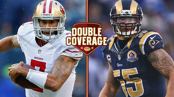Colin Kaepernick and James Laurinaitis