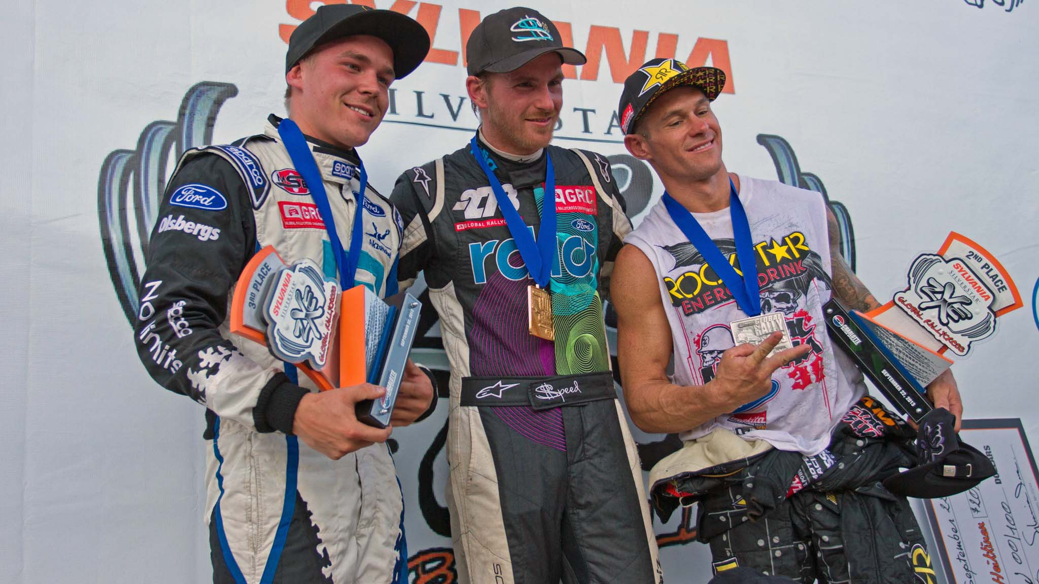 Toomas Heikkinen, Scott Speed, Brian Deegan