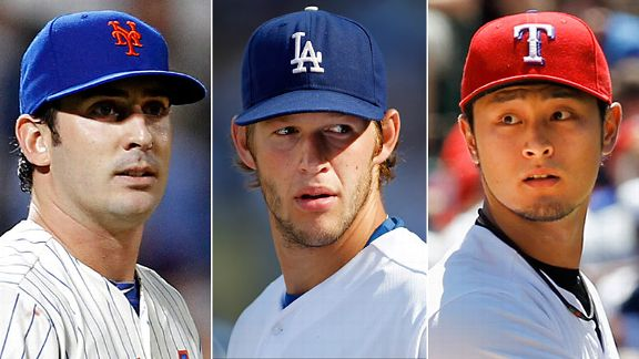Matt Harvey, Clayton Kershaw & Yu Darvish