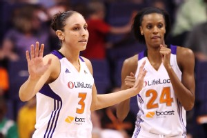 Diana Taurasi and DeWanna Bonner