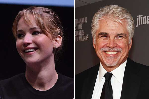 Jennifer Lawrence and Gary Ross