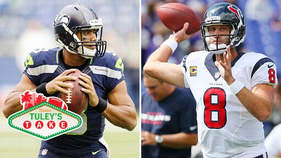 Russell Wilson and Matt Schaub