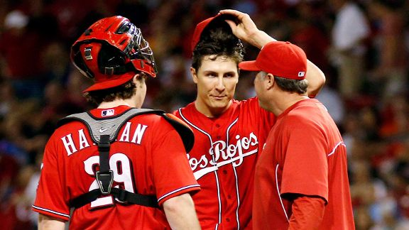 Bryan Price, Homer Bailey, Ryan Hanigan