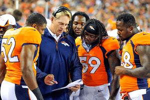 Broncos interim head coach Jack Del Rio is a lot like John Fox, the coach he's filling in for.