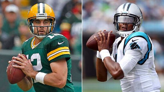 Aaron Rodgers and Cam Newton