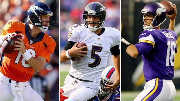 Peyton Manning, Joe Flacco, Matt Cassel