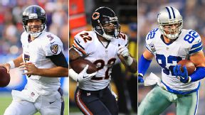 Joe Flacco, Matt Forte & Jason Witten