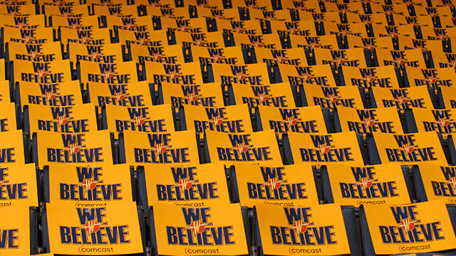In Arena before the Golden State Warriors host the Dallas Mavericks in Game Six of the Western Conference Quarterfinals during the 2007 NBA Playoffs at Oracle Arena on May 3, 2007 in Oakland, California.