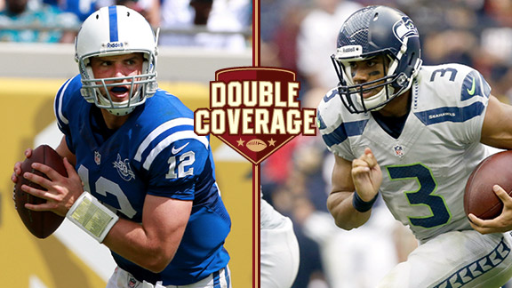 Andrew Luck, Russell Wilson