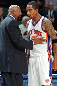 J.R. Smith and Mike Woodson
