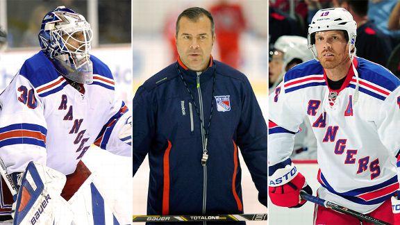 Henrik Lundqvist, Alain Vigneault, Brad Richards