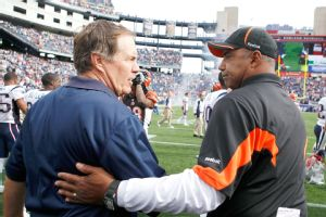 Bill Belichick and Marvin Lewis