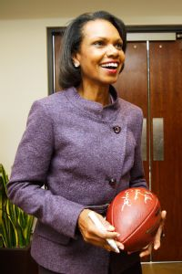 Former Secretary of State Condoleezza Rice will be on the College Football Playoff selection committee when it is announced next month, sources told ESPN.