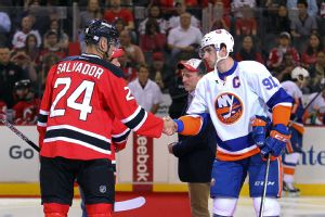 Bryce Salvador and  John Tavares