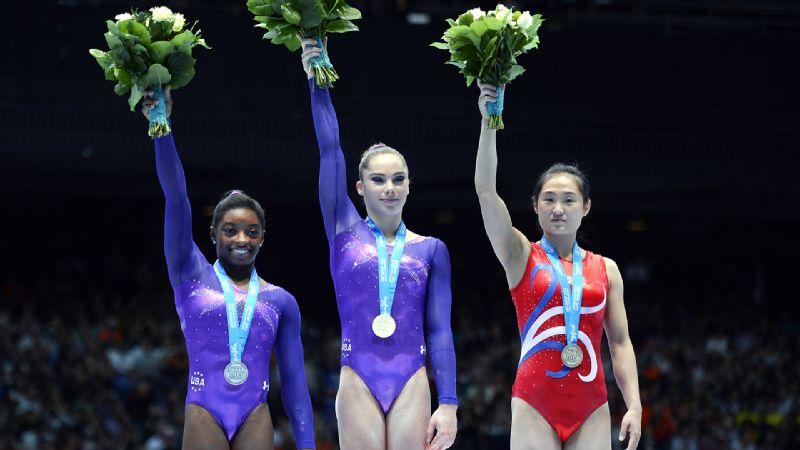 Simone Biles, Mc Kayla Maroney & Un Jong Hong