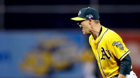 A's turn to rookie Gray, not Colon, in Game 5