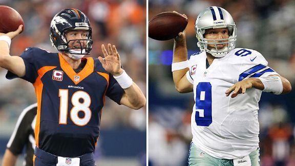 Peyton Manning and Tony Romo