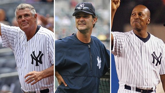 Lou Piniella, Don Mattingly and Willie Randolph