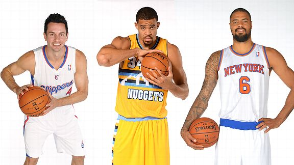 J.J. Redick,  JaVale McGee and Tyson Chandler