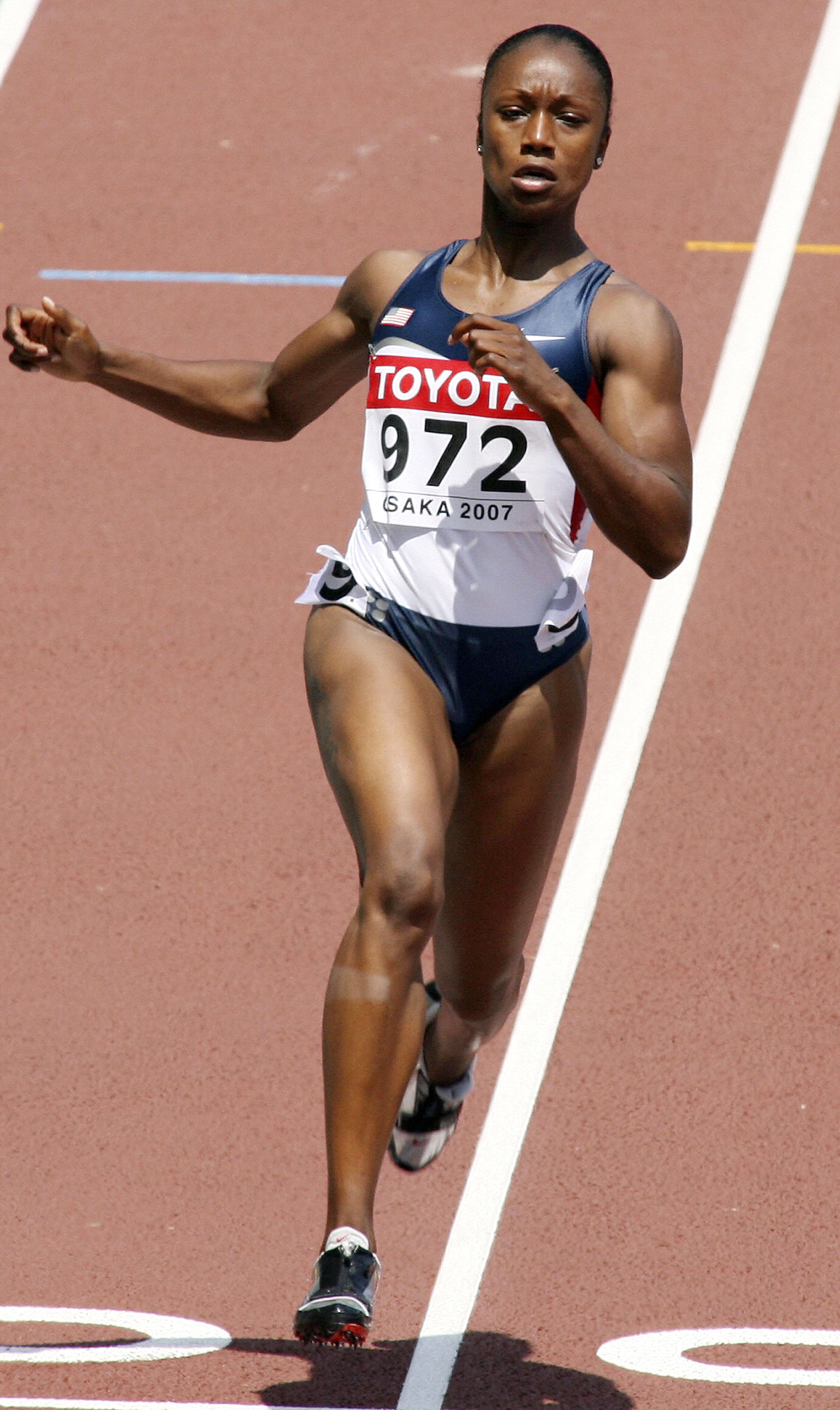 Competing in her first world championships in 2007, Carmelita Jeter raced to a bronze medal in the 100 meters in Japan.