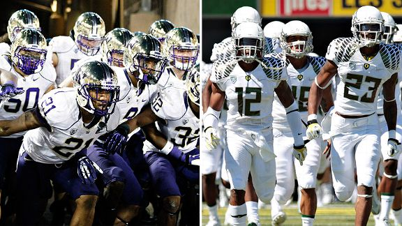Oregon Ducks & Washington Huskies
