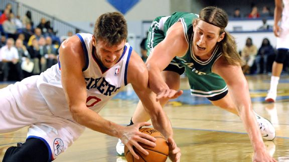 Spencer Hawes and Kelly Olynyk