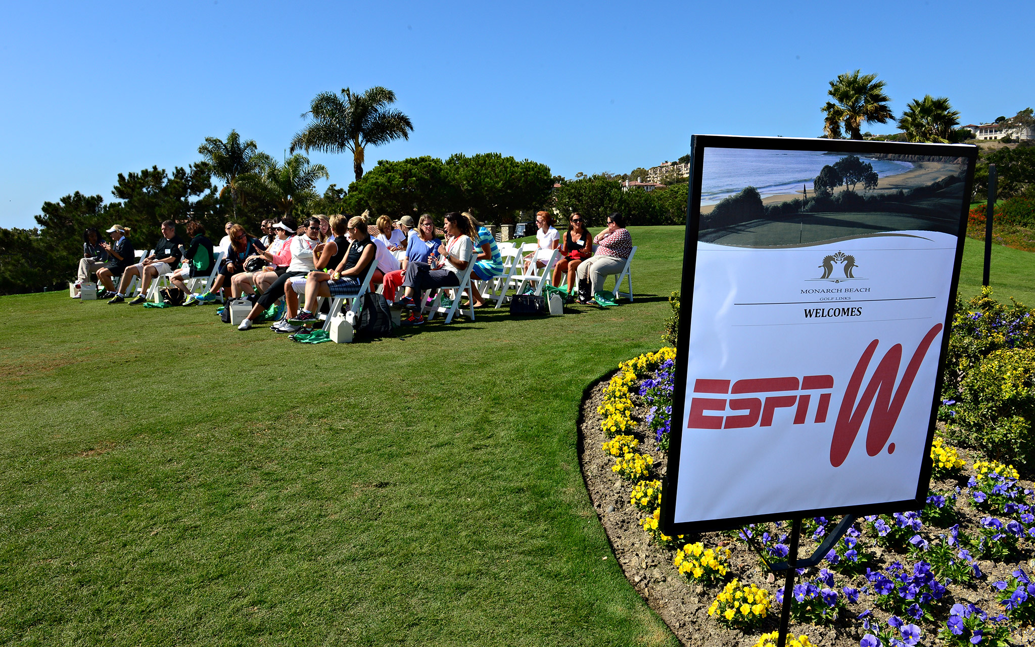 The PGA of America held a golf clinic for some of the attendees of the espnW Summit.