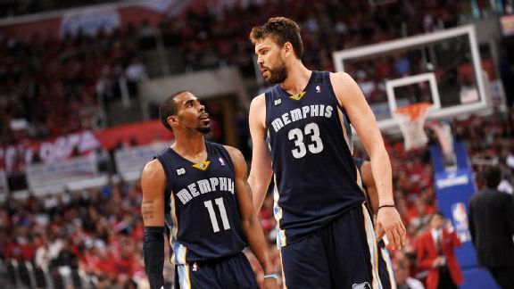 Mike Conley and Marc Gasol