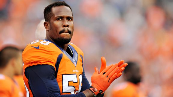 Broncos' Von Miller begins long road back