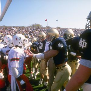 Miami Hurricanes and Notre Dame Fighting Irish