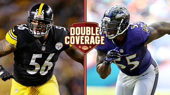 LaMarr Woodley and Terrell Suggs