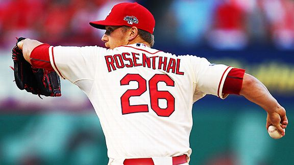 St. Louis Cardinals closer Trevor Rosenthal