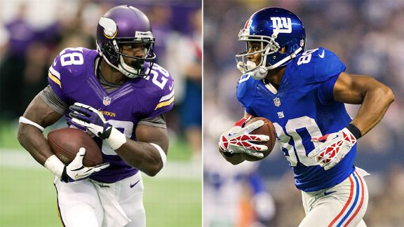 Adrian Peterson, Victor Cruz