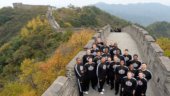 Golden State Warriors at the Great Wall