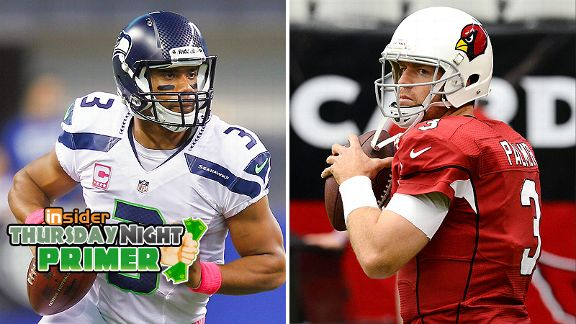 Russell Wilson and Carson Palmer