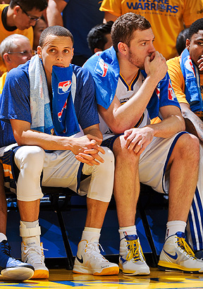 Stephen Curry and David Lee
